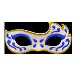 動森畢業舞會化妝舞會面具-藍