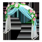 動森 六月新娘 婚禮家具 婚禮拱門-可愛