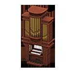 動森 六月新娘 婚禮家具 婚禮管風琴-深棕色