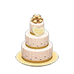 動森 六月新娘 婚禮家具 婚禮蛋糕-典雅