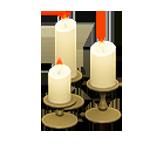動森 六月新娘 婚禮家具 婚禮蠟燭-典雅