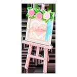 動森 六月新娘 婚禮家具 婚禮迎賓板-可愛訊息