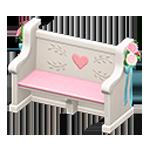 動森 六月新娘 婚禮家具 婚禮長椅-可愛