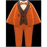 動森畢業舞會彩色西裝禮服-橘
