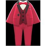 動森畢業舞會彩色西裝禮服-紅