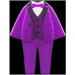 動森畢業舞會彩色西裝禮服-紫