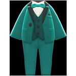 動森畢業舞會彩色西裝禮服-綠色