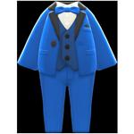 動森畢業舞會彩色西裝禮服-藍