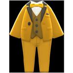 動森畢業舞會彩色西裝禮服-黃