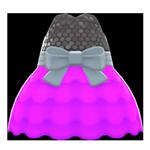 動森畢業舞會泡泡洋裝-紫色