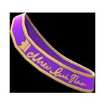 動森畢業舞會綬帶-紫