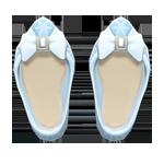 動森 六月新娘 婚禮服飾-純白低跟鞋