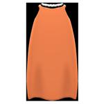 動森畢業舞會絲質洋裝-橘