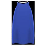 動森畢業舞會絲質洋裝-藍