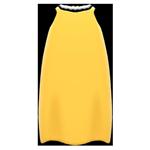 動森畢業舞會絲質洋裝-黃
