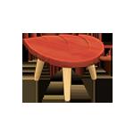 動森 秋季樹果系列 落葉凳子-紅色