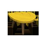 動森 秋季樹果系列 落葉凳子-黃色