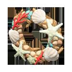動森 夏天貝殼系列DIY 貝殼花圈