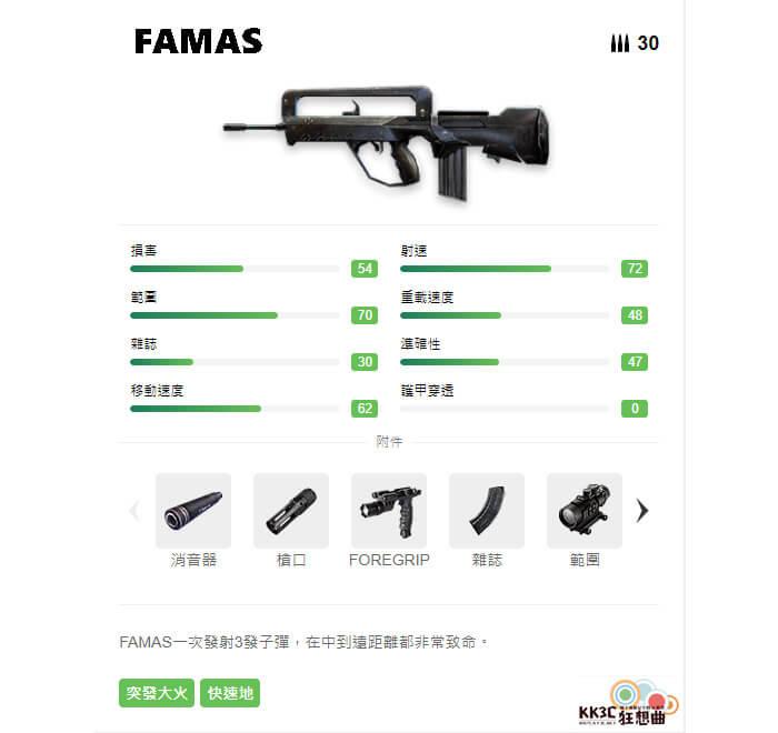 Garena Free Fire 突擊步槍 FAMAS
