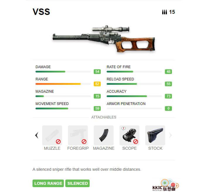 Garena Free Fire 衝鋒槍 VSS