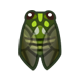 集合啦!動物森友會!昆蟲  斑透翅蟬
