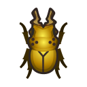 集合啦!動物森友會!昆蟲 黃金鬼鍬形蟲