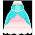 動森人魚服飾系列:人魚公主洋裝B