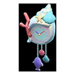 動森人魚家具系列:人魚壁鐘