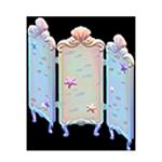 動森人魚家具系列:人魚屏風